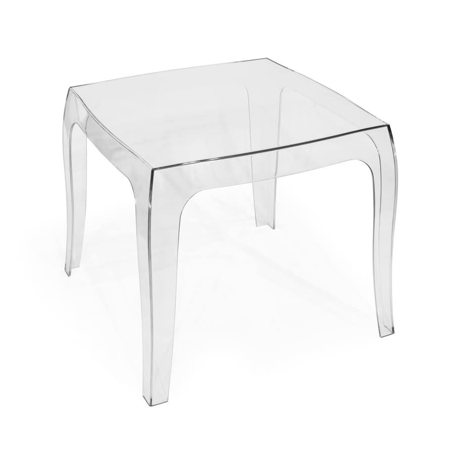 Art. 038/T Baby, Tavolino in policarbonato trasparente, adatto a varie situazioni