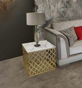 ART. 3338, Tavolino quadrato con piano in marmo