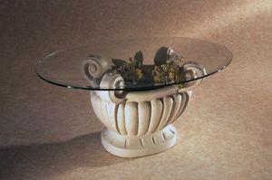 Asolo, Tavolino da salotto con piano ovale