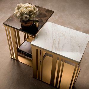 ATMOSFERA tavolino 2, Tavolino con struttura sofisticata, robusta e lucente