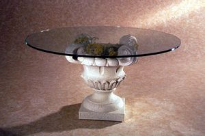 Atunis, Tavolino stile classico, base in pietra