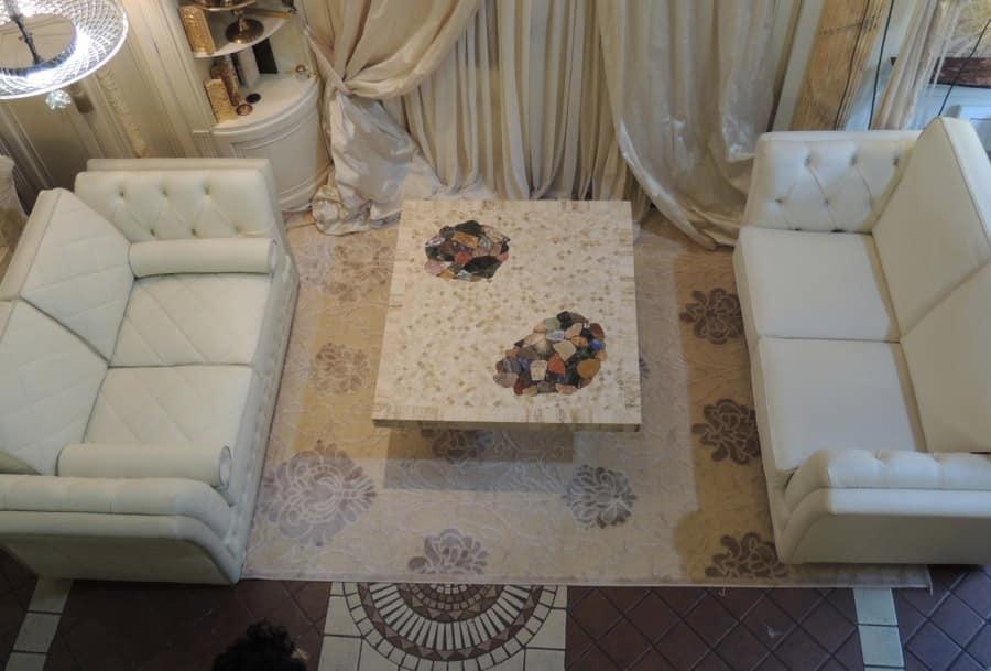 Tavolino quadrato salotto stile classico idfdesign