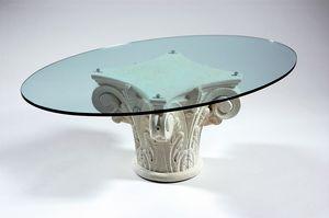 Corinto, Tavolino da salotto con base stile greco