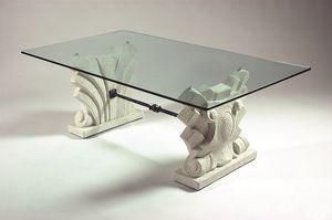 Dante, Tavolino con doppia base in pietra