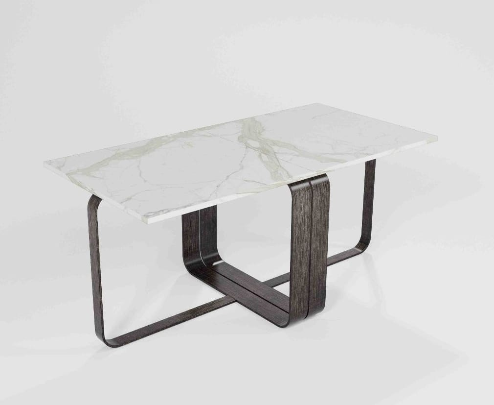Tavolino modulare con base in ferro idfdesign