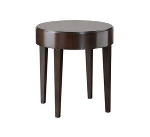 Downtown tavolino, Tavolino con piano tondo in legno impiallacciato