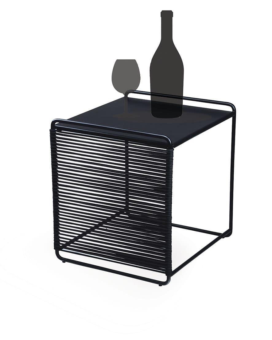 Duo du tavolino sgabello dal design minimalista in for Design minimalista