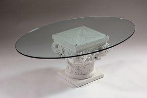 Erato, Tavolino classico con capitello in pietra