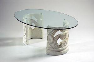 Eros, Tavolino classico con base in pietra