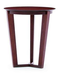 Flen 901 - 902, Tavolino tondo, fusto in faggio massiccio, piano in faggio o marmo