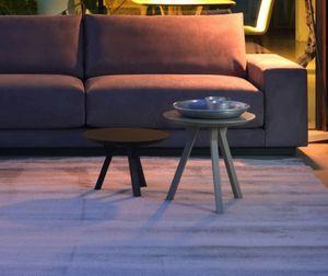 GIPSY tavolini, Tavolino rotondo design, in legno laccato opaco