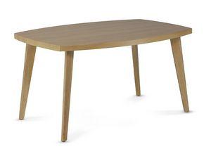HIRO 1476, Tavolino in legno con bordi smussati