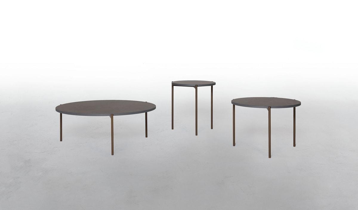 ICON, Tavolini tondi, con serigrafia jungle