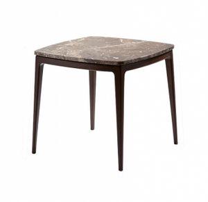 Indigo tavolino, Tavolino quadrato con piano in marmo