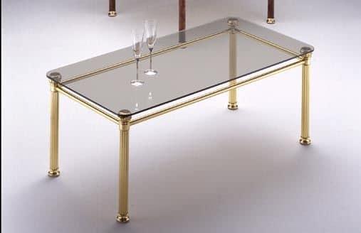 Carrello classico per cucina carrello portavivande per - Tavolini vetro e ottone ...