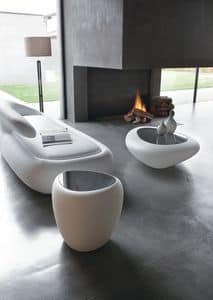 IOS servetto, Tavolino moderno, multifunzione, per soggiorno