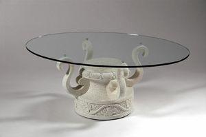 Ivan, Tavolino con base pietra decorata