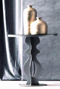 Jasper Art. 163, Tavolino con base in ferro e top specchio fumè