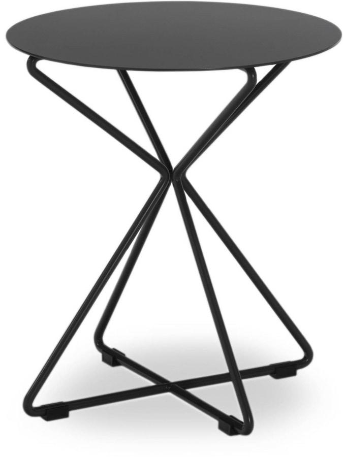 Tavolino rotondo in metallo per esterni idfdesign for Tavolini esterni
