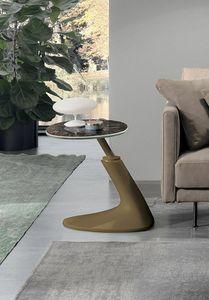 LEAF CORNER TL401, Tavolino con base in poliuretano verniciato
