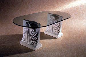 Loko, Tavolino in pietra e vetro