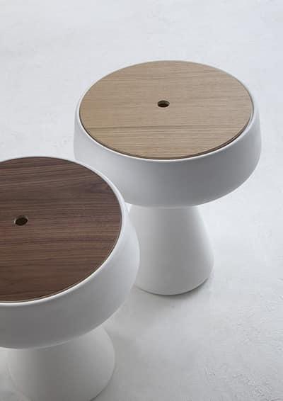 MAKI, Tavolino in plastica con contenitore