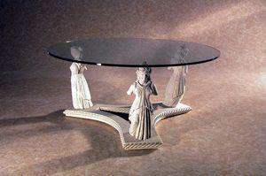 Minerva, Tavolino con statue in pietra