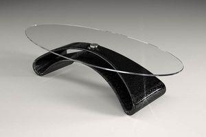 Narciso, Tavolino da salotto con piano in vetro