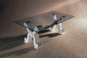 Ogma, Tavolino classico in pietra e vetro