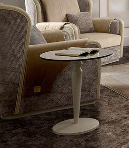 Oliver Art. OL16/55, Tavolino con piano tondo in vetro bronzato