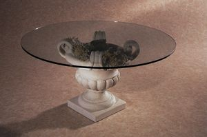 Palladio, Tavolino con base in pietra a forma di vaso