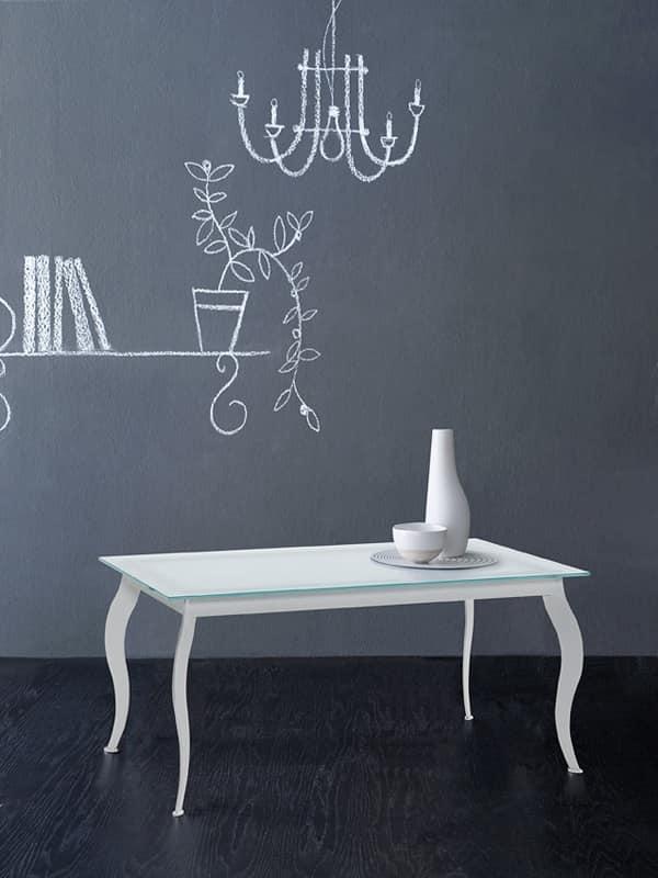 Paris tavolino rettangolare, Tavolino caffè, disegno alternativo, per Soggiorno