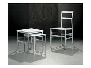 PIUMA/NT, Set di tavolini da inserire l'uno nell'altro