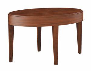 Plano tavolino da salotto, Tavolino ovale per salotto