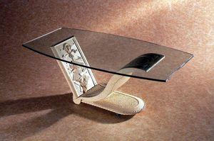 Polifemo, Tavolino con base in pietra decorata