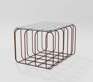 Prisma, Tavolino rettangolare con base in ferro