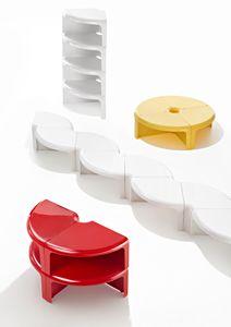 Quattroquarti, Elementi modulari, componibili in tavolini o librerie