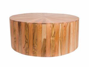 Remix 0499, Tavolino tondo fatto da vari tipi di legno