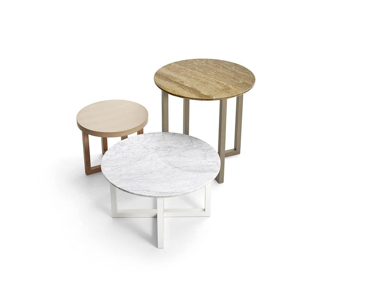 set tavolini con piano rotondo per ambienti moderni