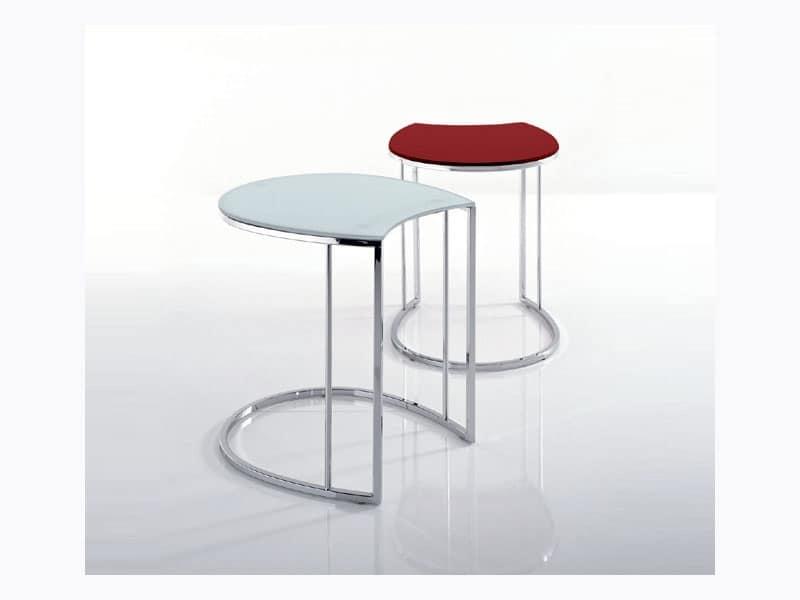 Tavolini caff forma particolare area attesa idfdesign - Tavolini poltrone sofa ...