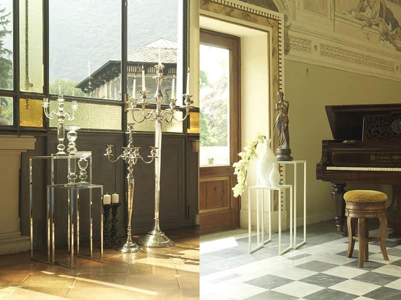 t111 corner, Coppia di tavolini per salotto e soggiorno