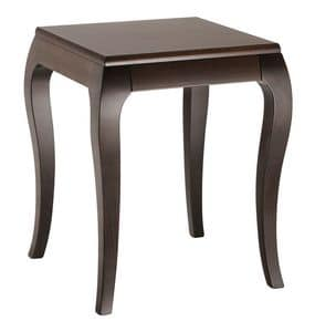TA40, Tavolino basso con piano impiallacciato, per hotel e pasticcerie