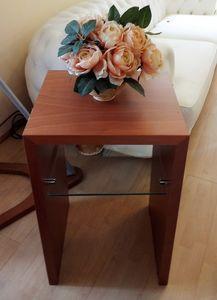 Tavolino 02, Tavolino in legno e vetro