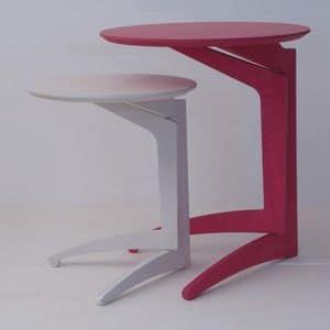 Twin Milano, Tavolino pieghevole in faggio, stile moderno