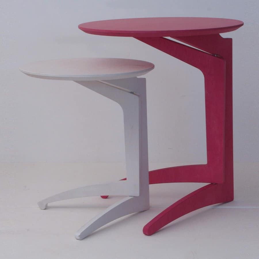Tavolini Salotto Pieghevoli.Tavolino Pieghevole In Faggio Stile Moderno Idfdesign