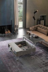 UP TL536, Tavolino da salotto in laminato con vassoio