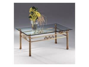 VIVALDI 1066, Tavolino in cristallo e metallo, per raffinati salotti
