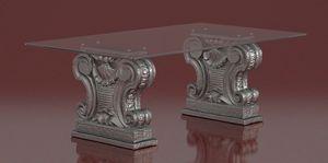 Zalone, Tavolino con capitelli in pietra