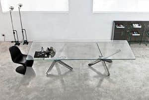 Immagine di Aikido 2 bases, tavoli piano in vetro