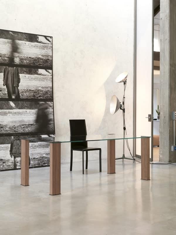 Dl101 montreal di ponti terenghi x abitare prodotti for Glass tavoli cristallo